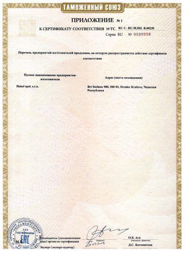 Скачать приложение к сертификату на устройства защиты от импульсных перенапряжений