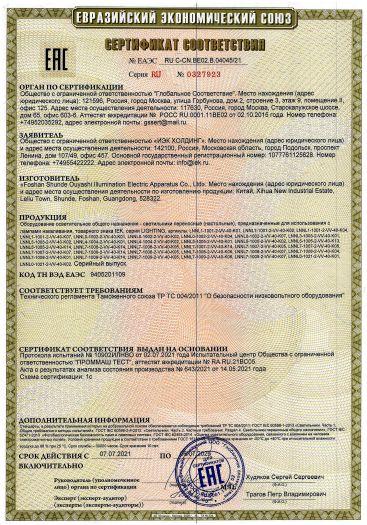 Скачать сертификат на генератор импульсов FBCGQ-3 с Ex-маркировкой 1ExdIIBT4 X