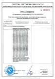 Скачать приложение к сертификату на компоненты систем молниезащиты