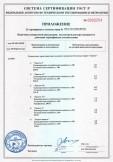 Скачать приложение к сертификату на электроплиты бытовые марки «Ладога»